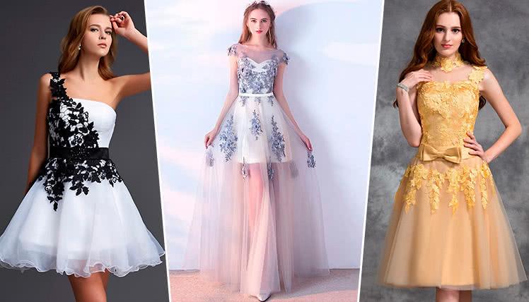 платья в тренде на выпускной 2019