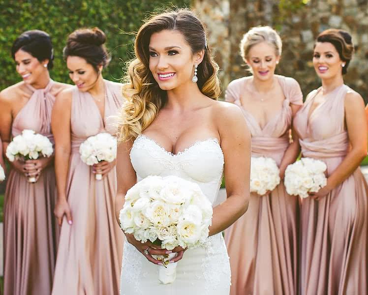 Платья-трансформеры для подружек невесты, идеи и фото образов