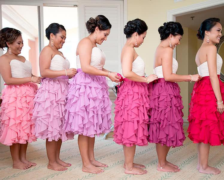 Единый фасон для платьев подружек невесты