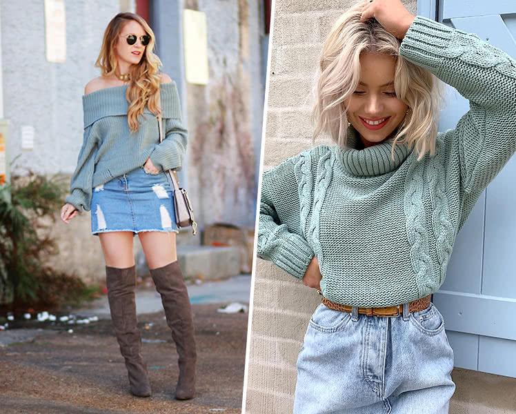 свитер для фигуры типа прямоугольник