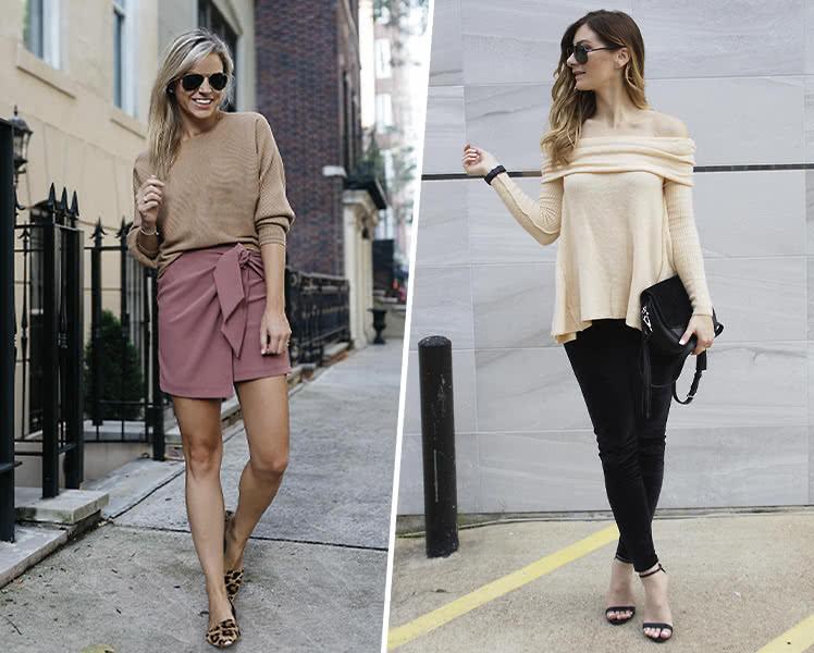 Как выбрать свитер для фигуры типа прямоугольник, фото образов
