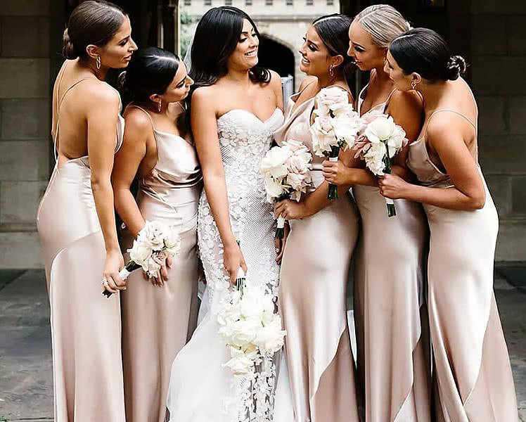 Длинные платья для подружки невесты, фото