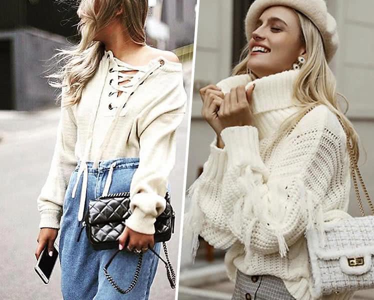 модные женские свитера с декором, фото трендов осени 2019 2020