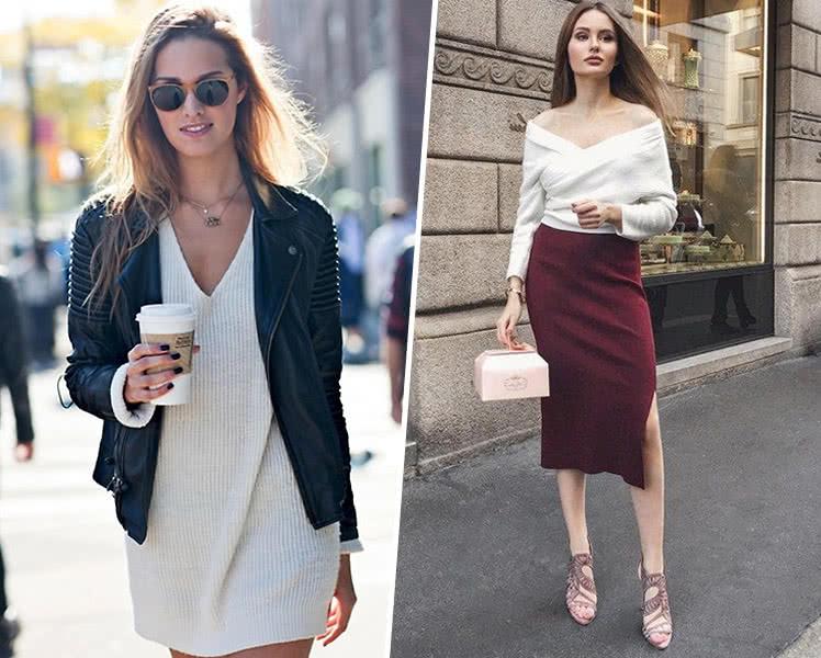 Модные женские свитера и джемперы с оригинальным декольте, фото 2019