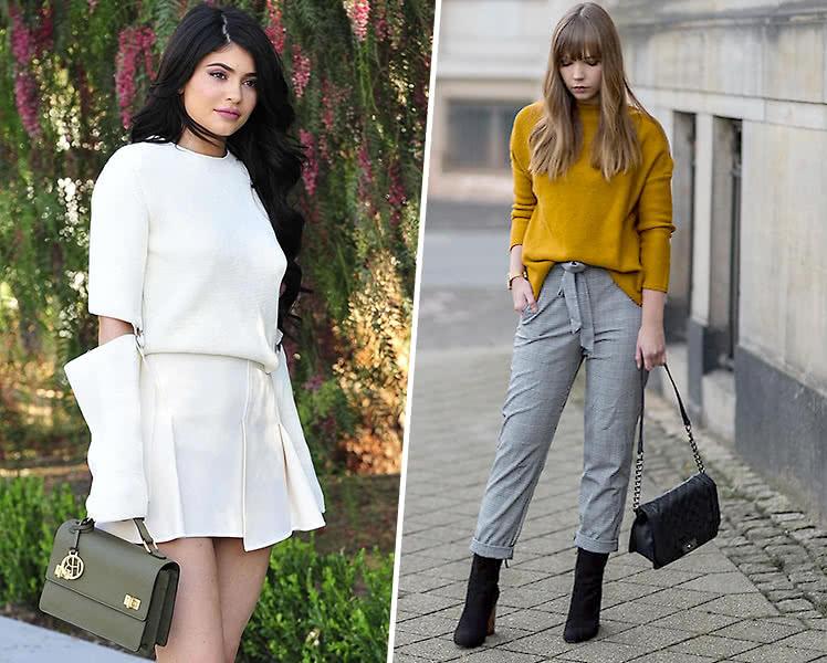 фото модных женских свитеров с вырезами, осень 2019