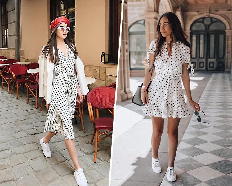 С какими кроссовками носить летнее платье
