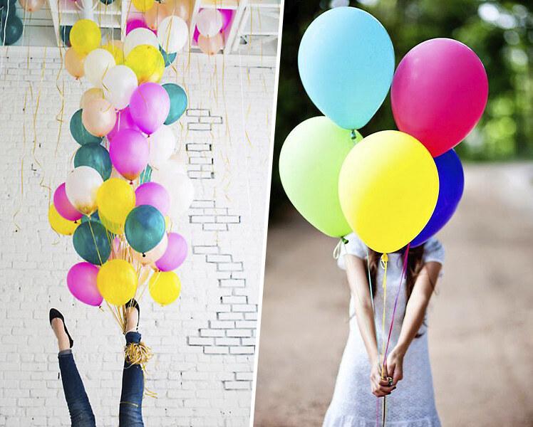 идеи для фотосессии на улице с шариками