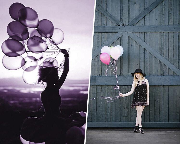 идеи для фотосессии летом с шариками