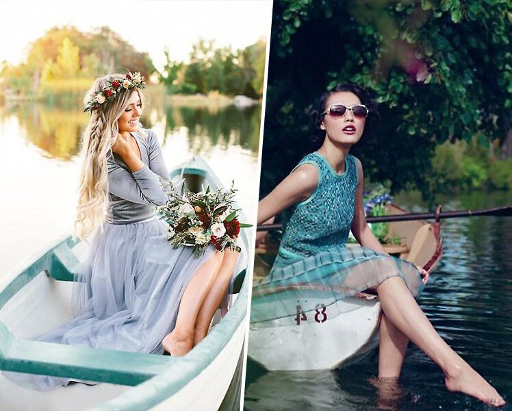 идеи для фотосессии летом на лодке