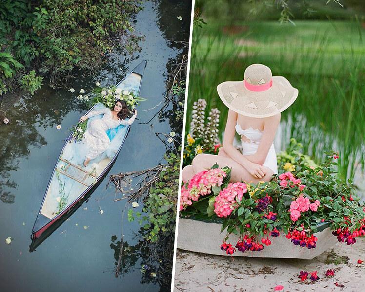 идеи для фотосессии с лодкой