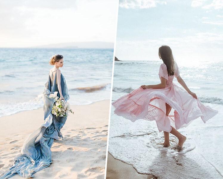 идеи для фотосессии на пляже