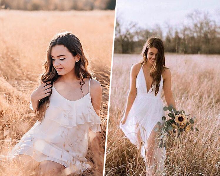 идеи для фотосессии летом на пшеничном поле