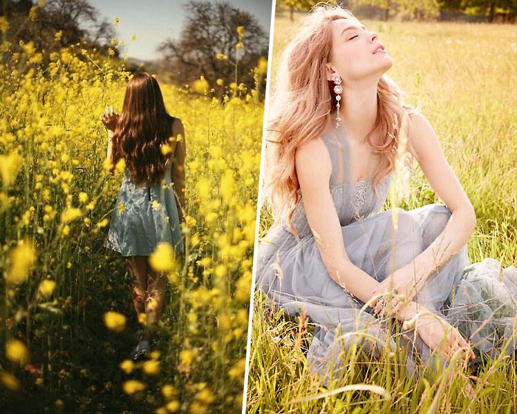 идеи для фотосессии летом в поле