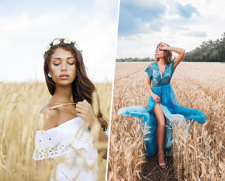 идеи для фотосессии на природе летом