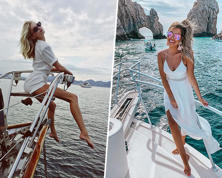 идеи для летней фотосессии на яхте
