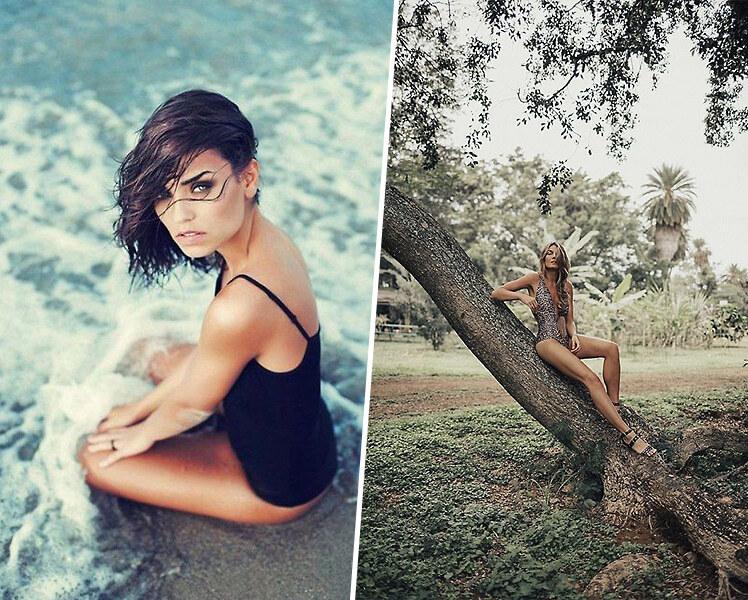 идеи для фотосессии летом в купальнике