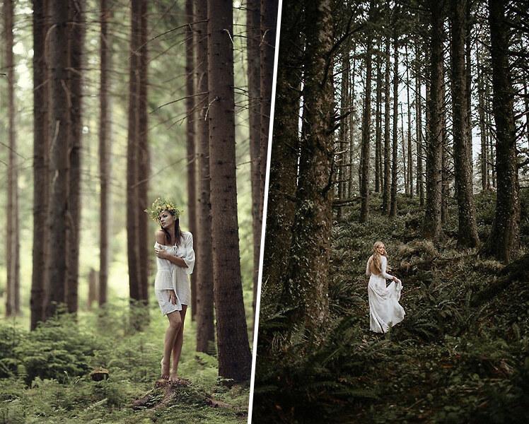 идеи для фотосессии в лесу летом