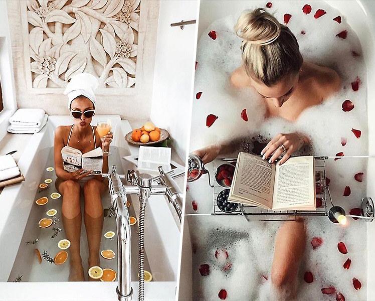 интересные идеи для фотосессии летом в ванной