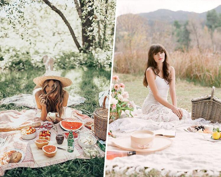 идеи для фотосессии пикник в парке летом