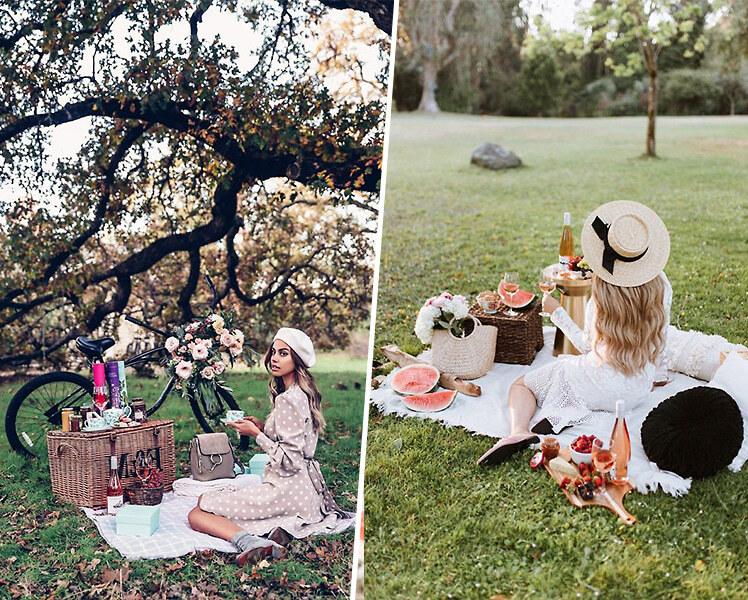 идеи для летней фотосессии пикник на природе