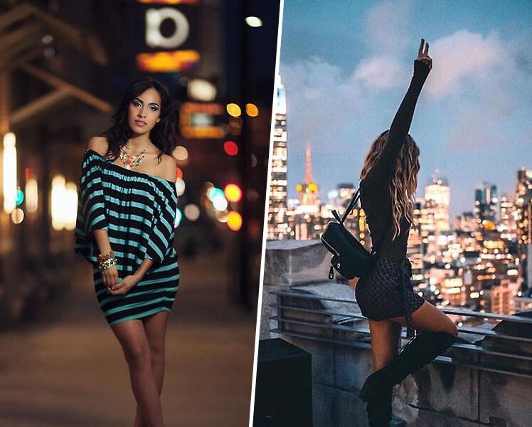 идеи для ночной фотосессии в городе