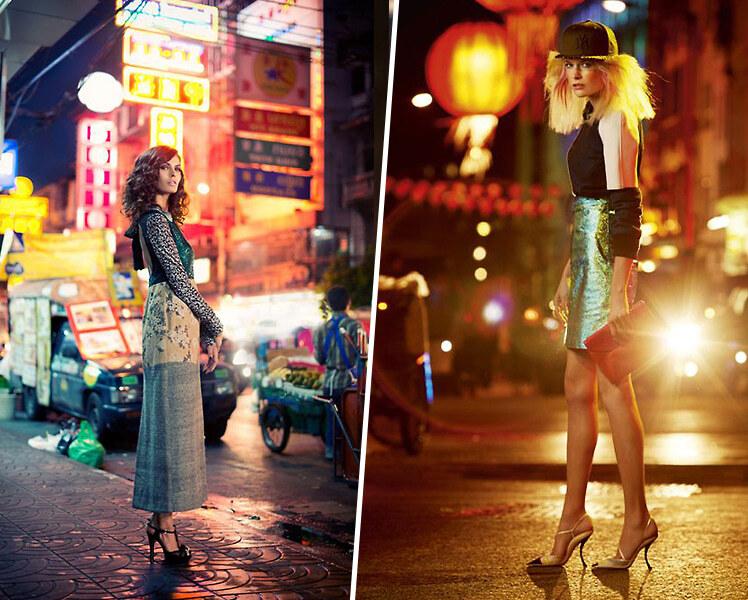 идеи для фотосессии ночью на улице летом
