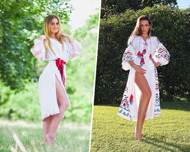 идеи для фотосессии летом в вышиванках