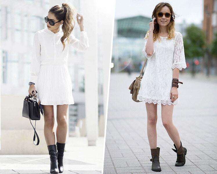 Какая обувь подходит под белое платье
