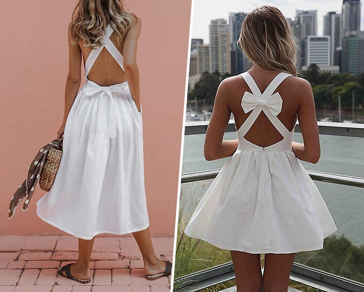 С чем носить белое платье летом