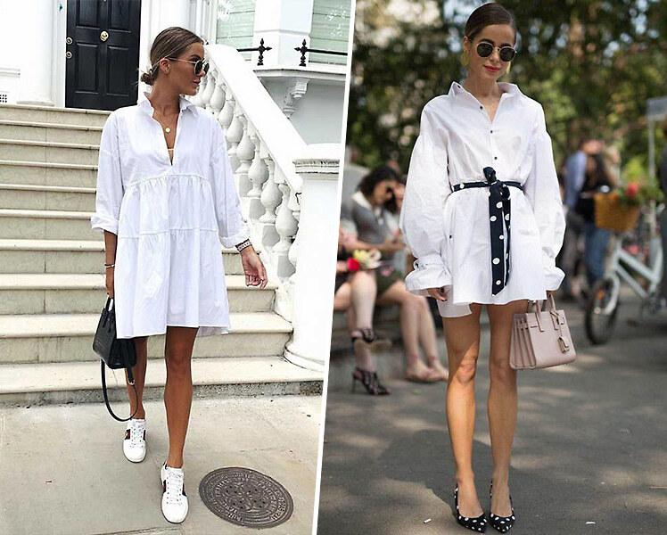 С чем носить короткое белое платье