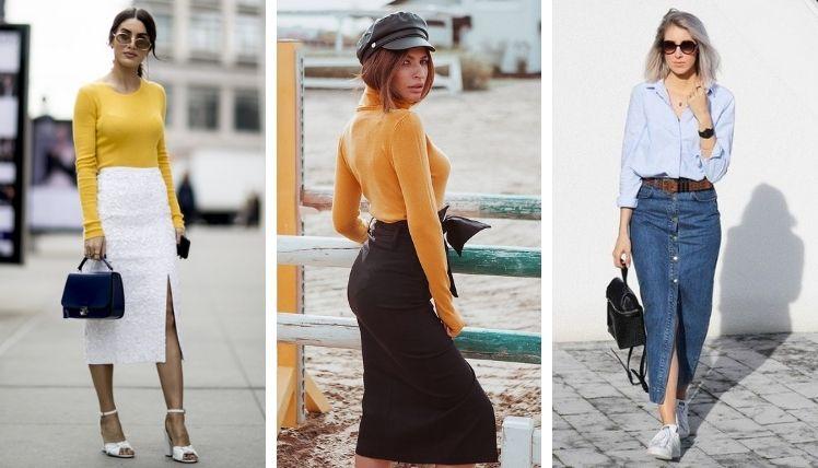 С чем носить юбку карандаш?