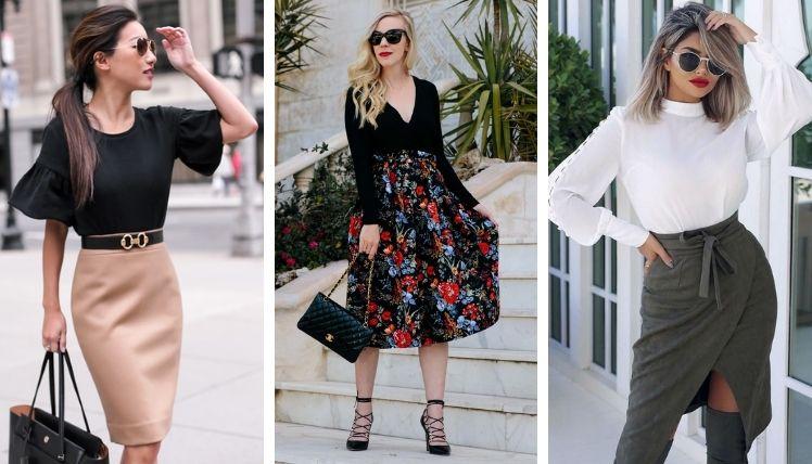 С чем носить юбки разных фасонов?