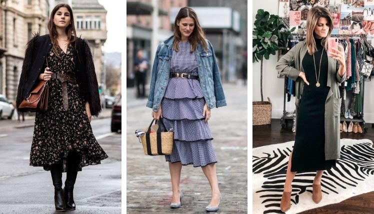С чем носить платье осенью?