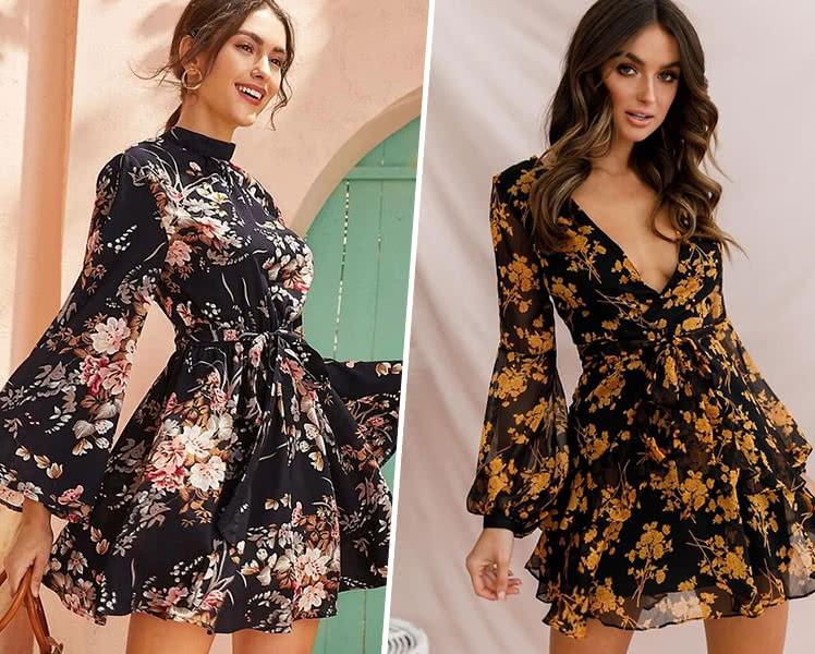 С чем носить короткие шифоновые платья?