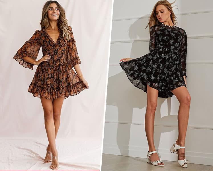 С какой обувью носить короткое шифоновое платье