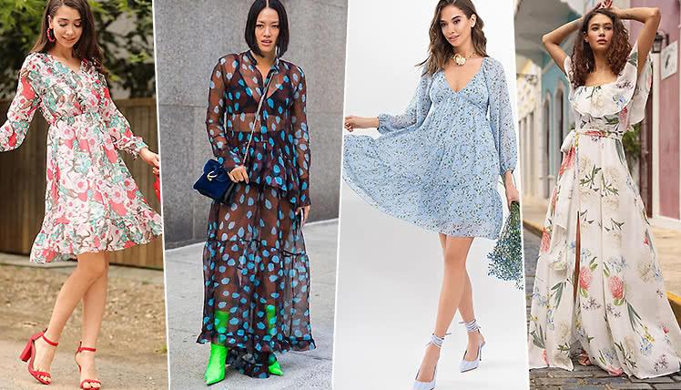 С чем носить шифоновые платья