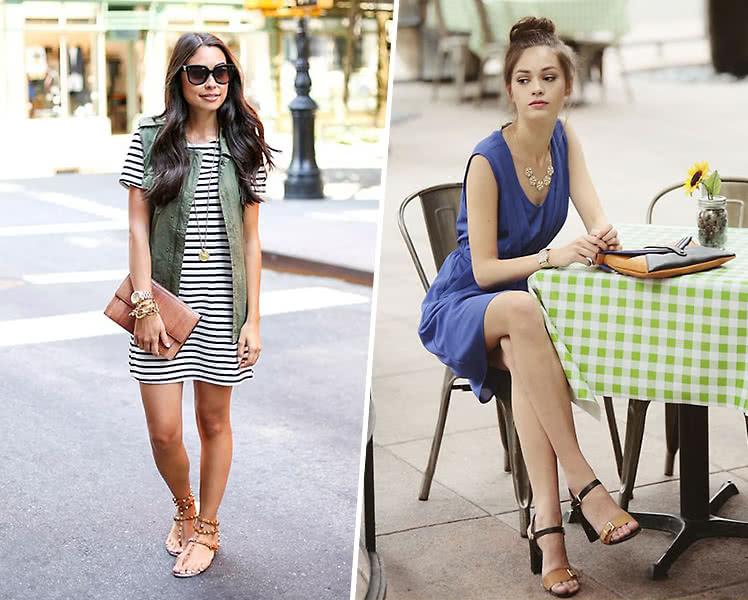 Какая обувь под летнее платье