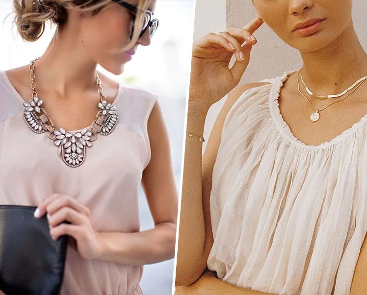 Какое украшение выбрать под вырез летнего платья