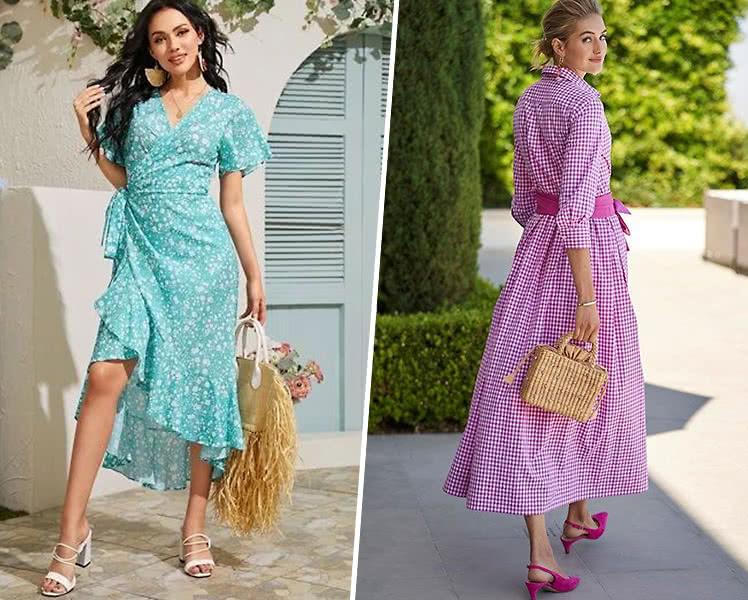С чем носить летнее платье в пол
