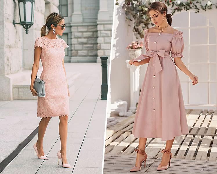 С какой обувью носить пастельное летнее платье