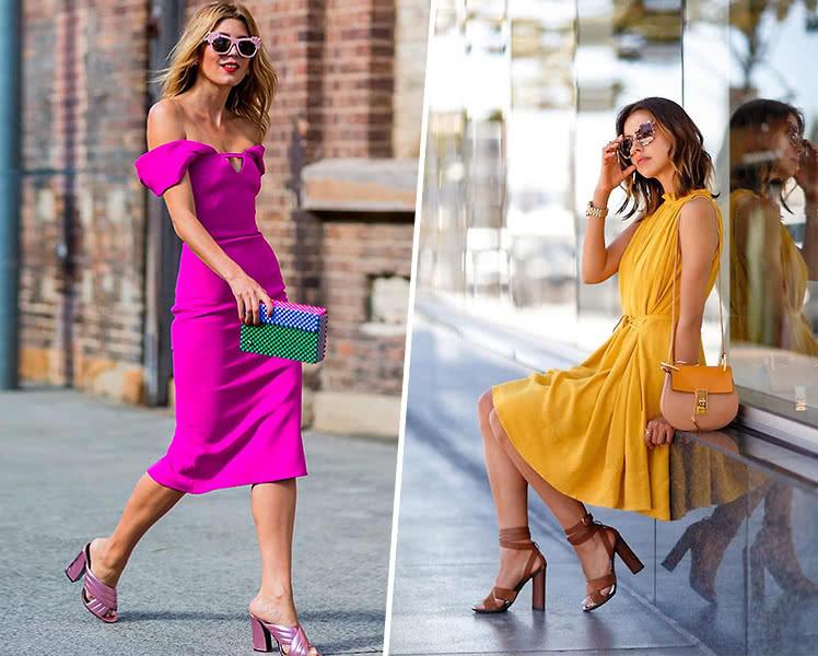 С какой обувью носить летнее платье