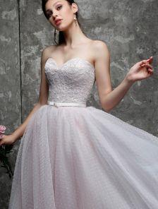 Нарядное платье бюстье с фатиновой юбкой