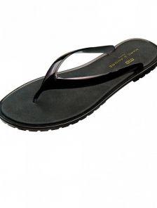 Летние силиконовые шлепанцы черного цвета Marc & Andre