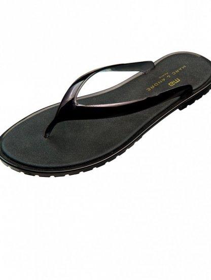 Летние силиконовые вьетнамки черного цвета Marc & Andre, фото 1