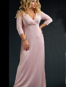 Длинное платье для полных женщин большого размера