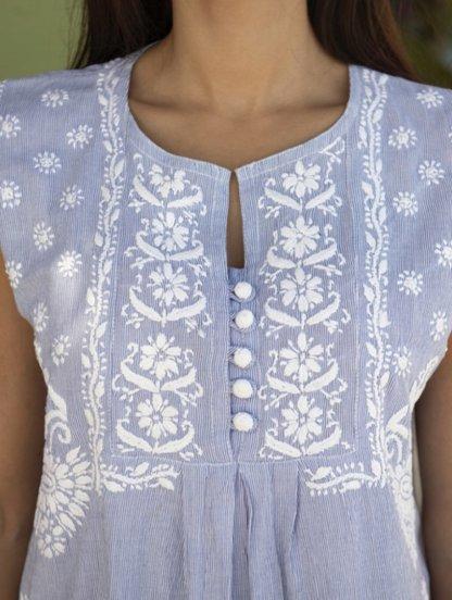 Натуральное легкое платье на лето, фото 1