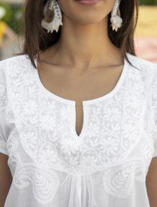 Натуральное белое легкое платье на жарокое лето