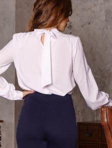 Женская классическая белая блуза
