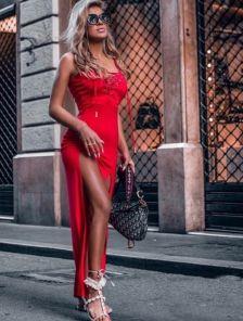 Повседневное красивое длинное платье