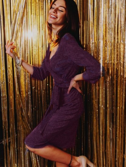 Вечернее женское платье с имитацией запаха и рукавом 3\4, фото 1